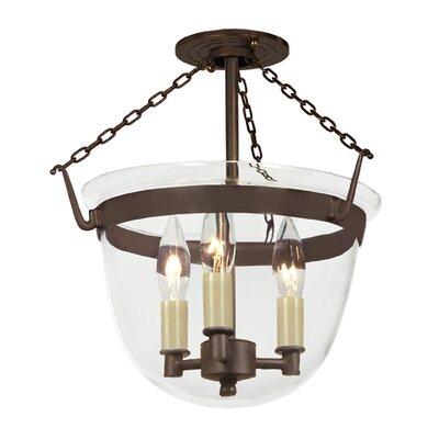 JVI Designs 3 Light Small Bell Foyer Pendant