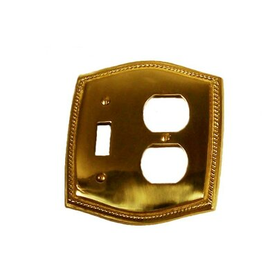 BRASS Accents Rope Combo Switch Wall Plate