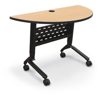 "48"" W Nido Flipper Height Adjustable Training Table with Wheels Tabletop Finish: Fusion Maple"