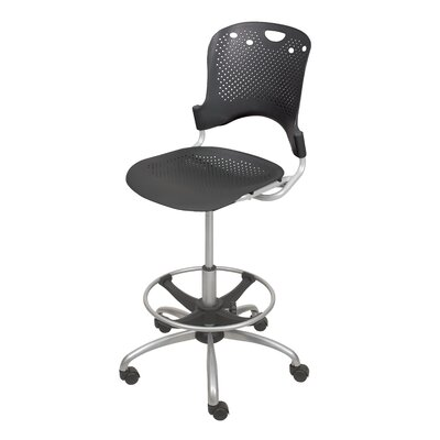 Circulation Drafting Chair Color: Black
