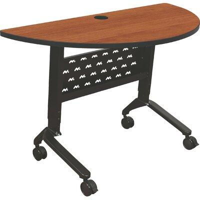 "48"" W Nido Flipper Height Adjustable Training Table with Wheels Tabletop Finish: Amber Cherry"