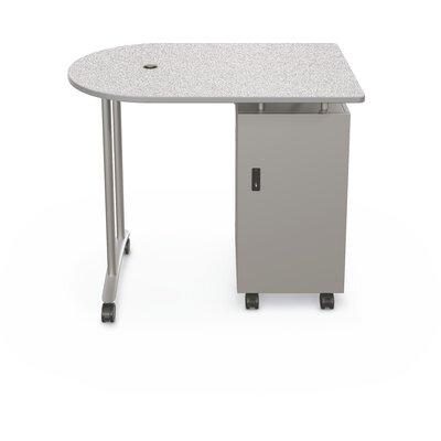 Mobile Peninsula Standing Desk Color: Gray Nebula