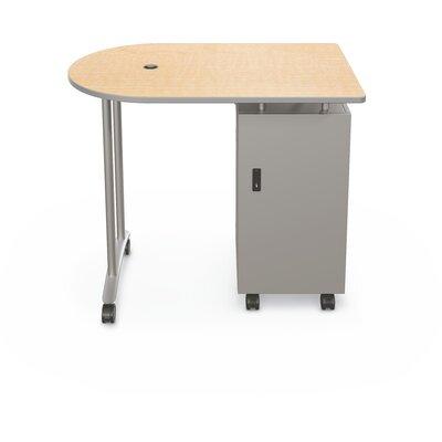 Mobile Peninsula Standing Desk Color: Fusion Maple