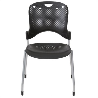 Circulation Stacking Chairs Seat Color: Black