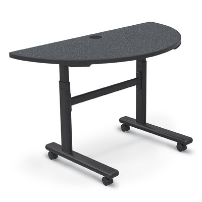48'' W Height Adjustable Training Table with Wheels Tabletop Finish: Graphite Nebula / Black