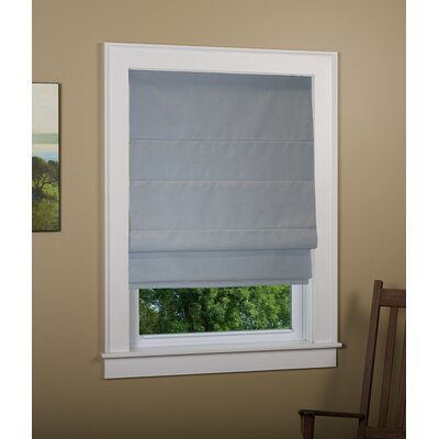 "Kilby Blackout Roman Shade Size: 48"" W x 72"" L, Finish: Gray"