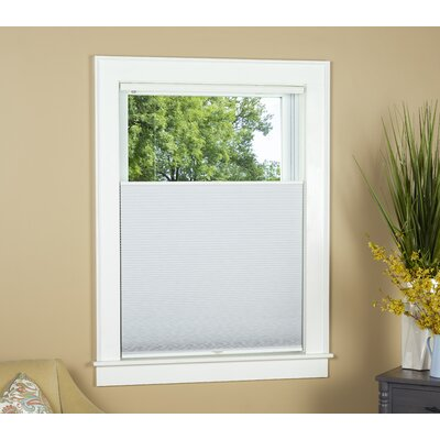 """Blackout Pleated Shade Blind Size: 28"""" W x 64"""" L, Color: White"""
