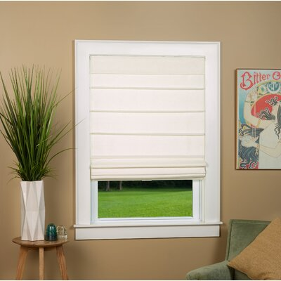 "Colt Room Darkening Roman Shade Blind Size: 31"" W x 64"" L, Color: Alabaster"