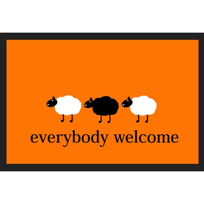Akzente Everybody Welcome Deco Wash Doormat