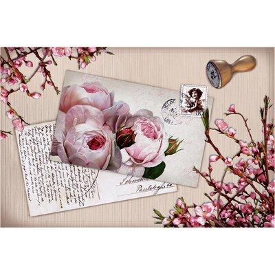 Akzente Gallery Rose Postcard Doormat