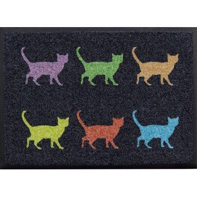 Akzente Easy Clean Colourful Cats Doormat