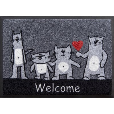 Akzente Easy Clean Cats Welcome Doormat