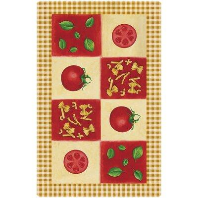 Akzente Tomato and Pasta Orange/Red Area Rug
