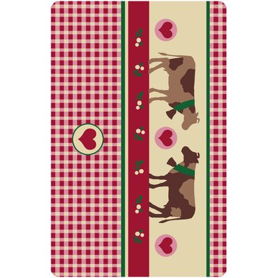 Akzente Country Cows Red Area Rug