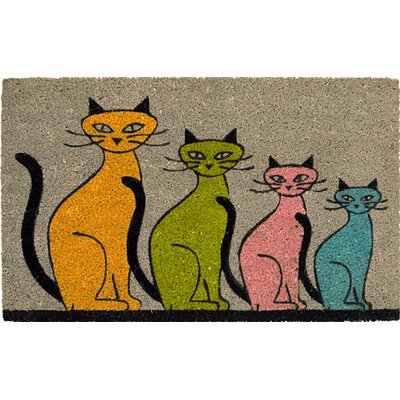 Akzente Coconut Four Cats Doormat