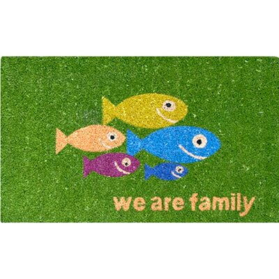 Akzente Easy Clean Fish Family Doormat
