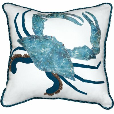 Rightside Design I Sea Life King of the Chesapeake Crab Cotton Throw Pillow
