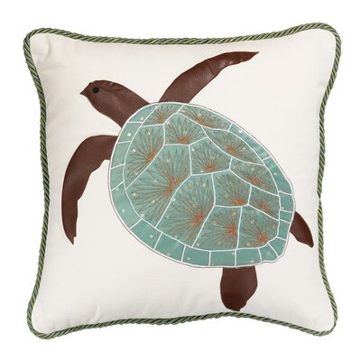 Rightside Design I Sea Life Turtle of The Sea Toss Cotton Throw Pillow