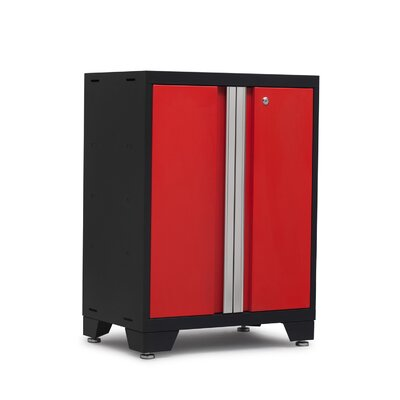 Bold 3.0 2 Door Base Cabinet Color: Red