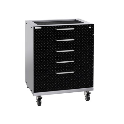 "Performance Plus 2.0 Diamond Plate Series 37.25"" H x 28"" W x 22"" D Drawer Tool Cabinet"
