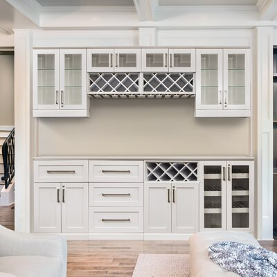Home Bar Shaker Style Back With Wine Storage