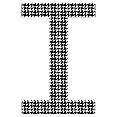 Houndstooth Initial Wall Dcor Letter: C