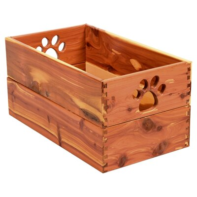 Trixie Storage Solid Wood Crate Size: Regular