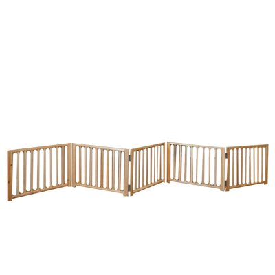 "Freestanding Walk Over Pet Gate Size: 17.5"" H x 48"" x 110"" W x 4.25"" D, Style: 5 Panel"