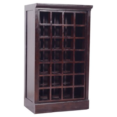 Napa Teak 28 Bottle Floor Wine Cabinet