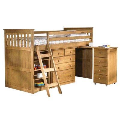 Homestead Living Cabin Single Mid Sleeper Bed with Storage