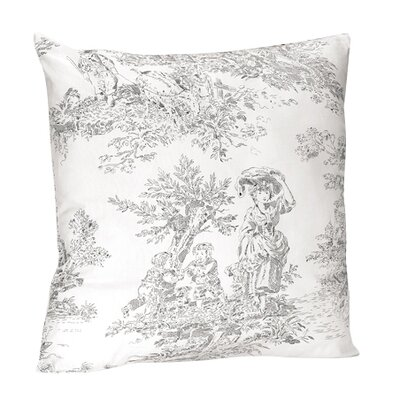 french toile cotton throw pillow wayfair. Black Bedroom Furniture Sets. Home Design Ideas
