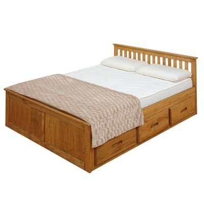 Homestead Living Mission Double Storage Bed Frame