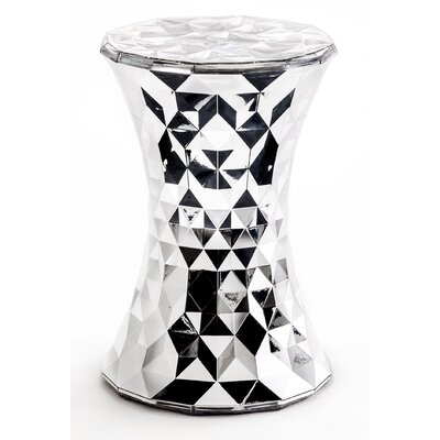 Stone Patio Bar Stool Finish: Chrome