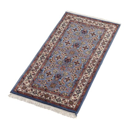 Boeing Carpet GmbH Hand-Woven Blue Area Rug