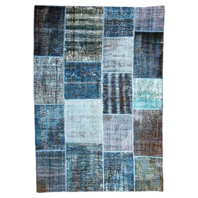 Happy Friday Hand-Woven Blue Area Rug