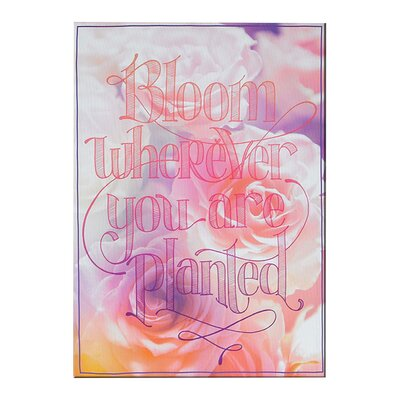 Graham & Brown Bloom Wherever You Are Typography on Canvas