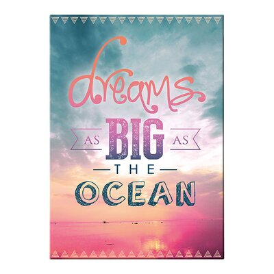 Graham & Brown Dreams As Big As the Ocean Typography on Canvas