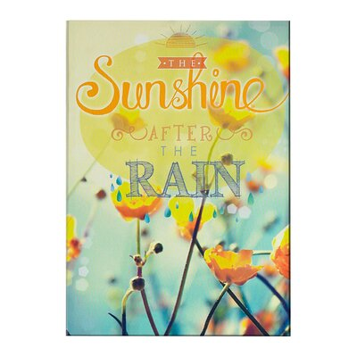 Graham & Brown Sunshine After The Rain Typography on Canvas