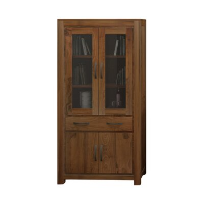 Baumhaus Mayan Walnut Solid Display Cabinet