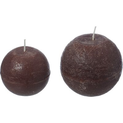 Boltze 2 Piece Rustica Ball Candle Set