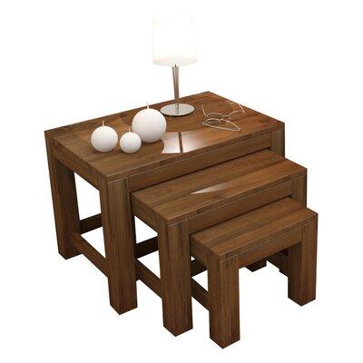 Baumhaus Mayan Walnut 3 Piece Nest of Tables