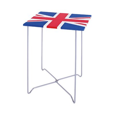House Additions Union Jack Square Side Table