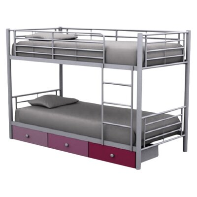 Homestead Living Berry Bunk Bed with Storage