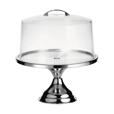 Tablecraft 2 Piece Cake Stand with Cover Set