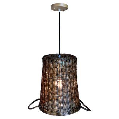 Ellis Rattan 1-Light Inverted Pendant