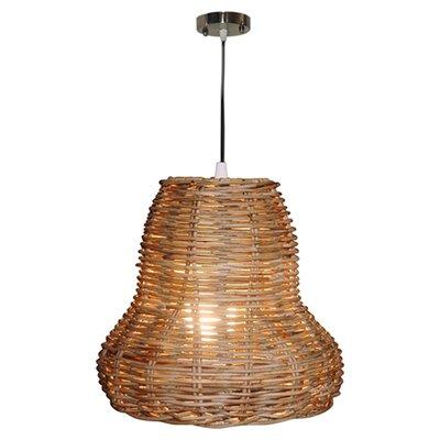 Seabrook Rattan 1 Light Bell Pendant