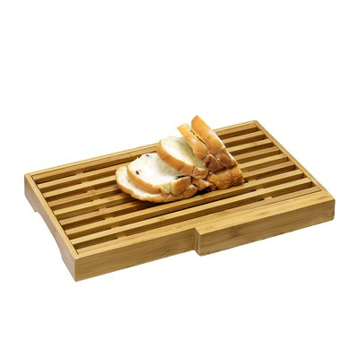 DaPur Bamboo Bread Board with Crumb Catcher and Knife Block