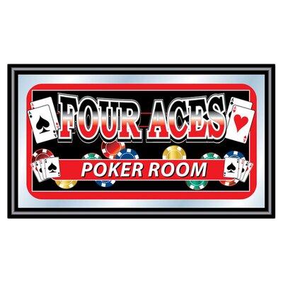 Trademark Global Poker & Casino Four Aces Poker Room Framed Graphic Art