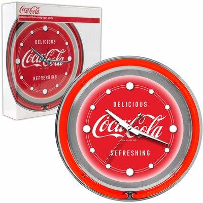 Trademark Global Coca Cola Deluxe Neon Clock