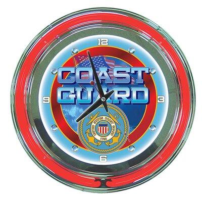 "Trademark Global 14"" United States Coast Guard Wall Clock"